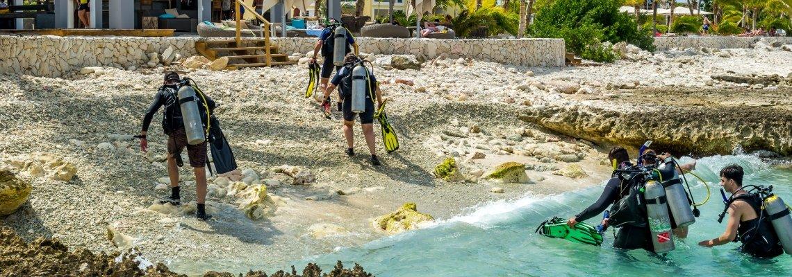 Kantduiken vanaf Delfins Beach Resort