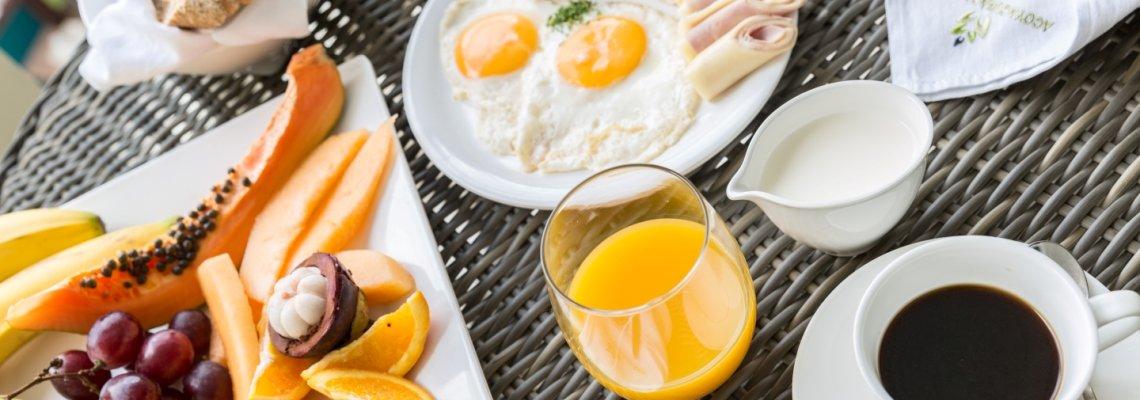 Curaçao, Acoya, uitgebreid ontbijt buffet
