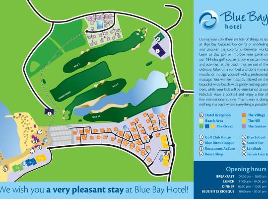Curacao Blue Bay Plattegrond